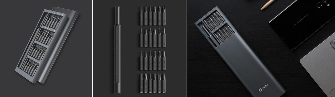 XIAOMI Mijia Wiha 24 in 1 Multi-purpose Precision Screwdriver Set Aluminium S2 Steel Repair Tools