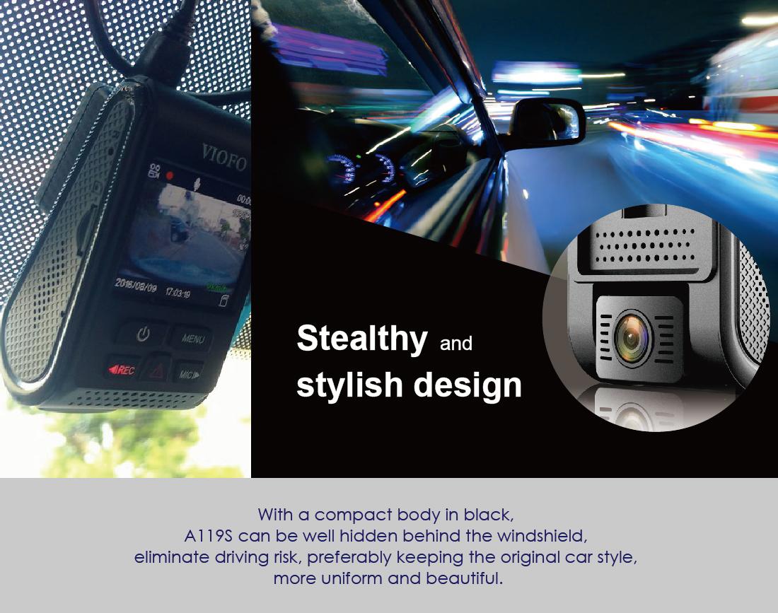 VIOFO A119S HD 2K 1440P Car Dash Camera Recorder