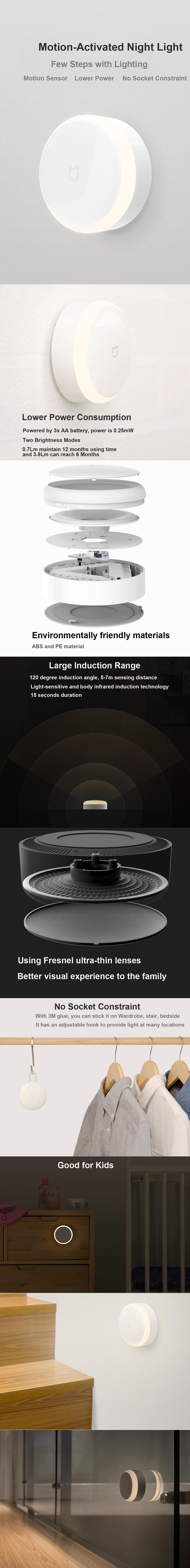 Xiaomi Mijia Motion Activated Sensor Night Light