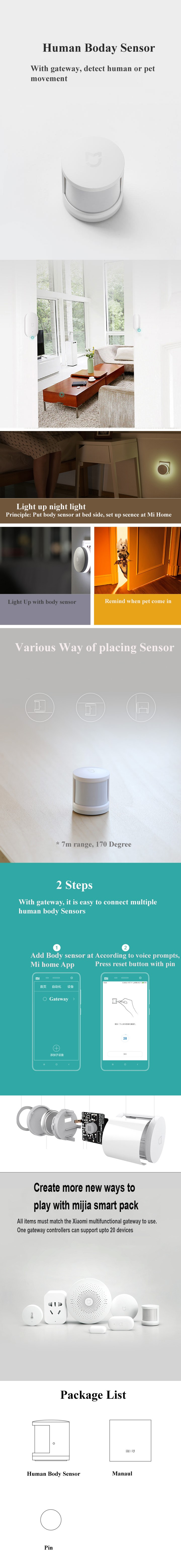 Xiaomi Mijia Smart Home Smart Human Body Sensor