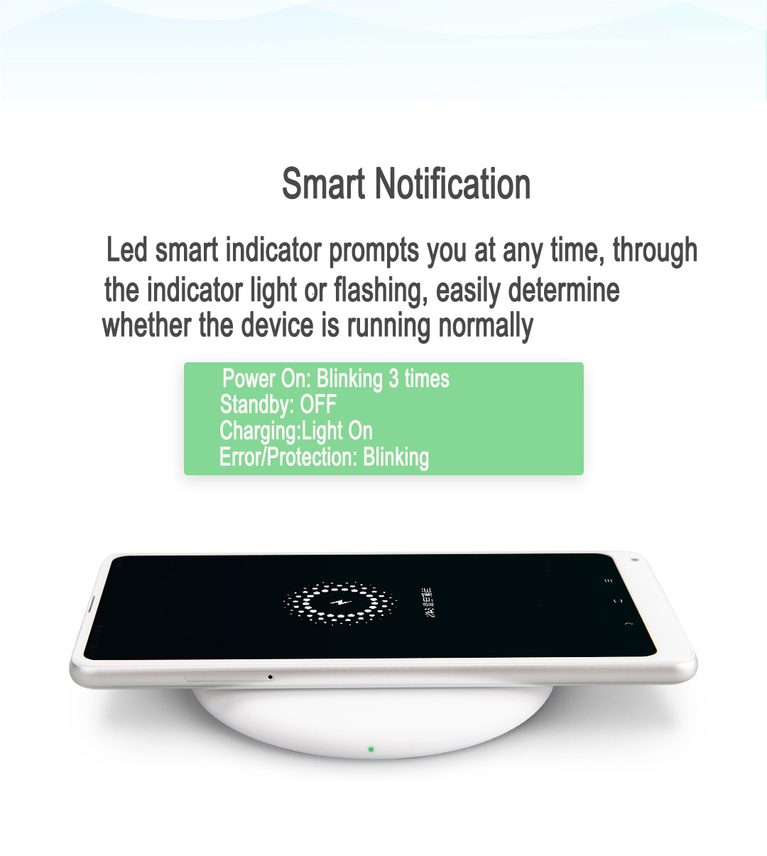 Xiaomi Mi Fast Charge Qi Wireless Charger for iPhone X 8 Plus Samsung S8 Plus