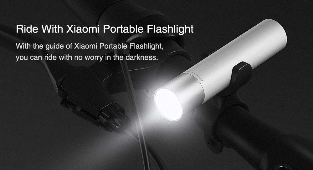 Xiaomi Portable Flashlight USB Charger LED Lamp power bank 3350mAh