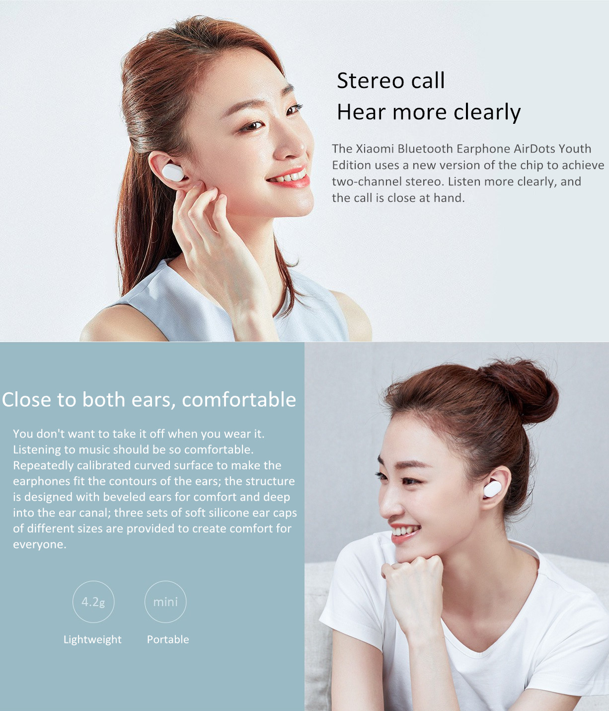 Xiaomi Airdots TWS bluetooth 5.0 Earphone Youth Version Touch Control with Charging Box Mic