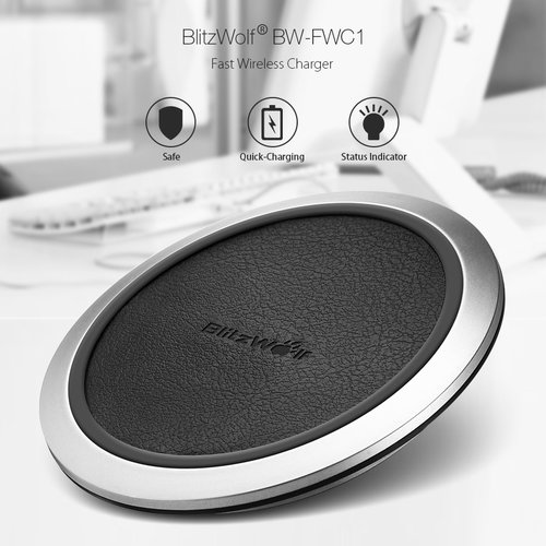 BlitzWolf® BW-FWC1 Fast Charge Qi Wireless Charger For iPhone X 8 Plus S8 Plus Note 8