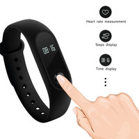 Xiaomi Mi Band 2 Heart Rate Smart Watch Wristband Fitness with White OLED