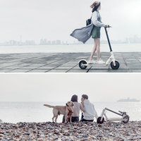 Xiaomi M365 Folding Electric Scooter with Two Spare Tyres- Black