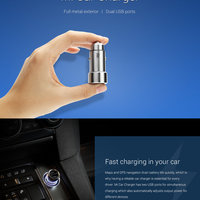 Mi Car Charger (3.6A Fast Charging) Metal Style - SILVER
